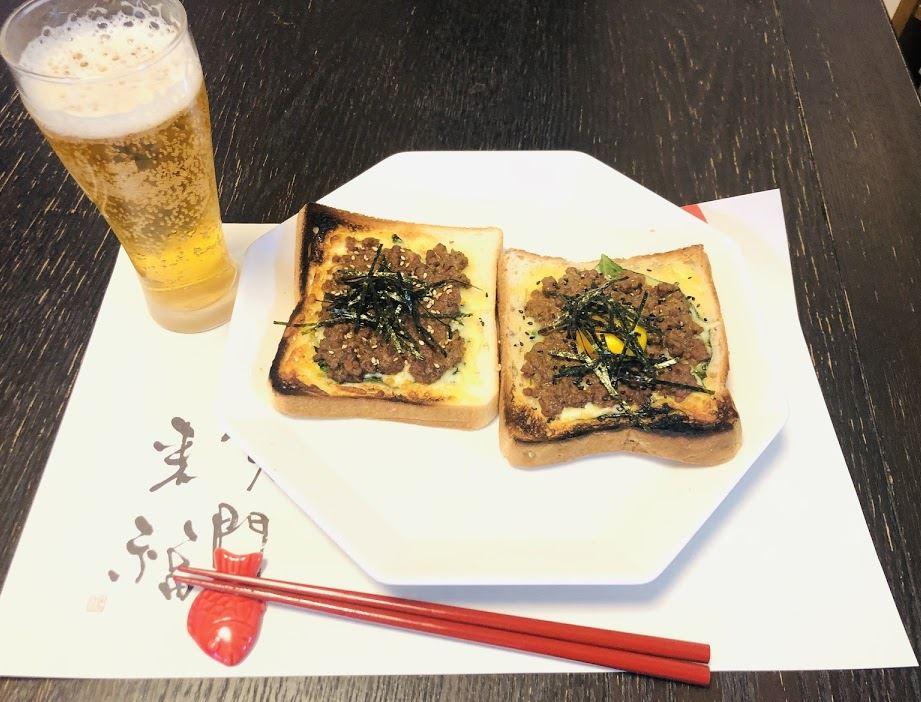 戦国武将メシ缶詰アレンジレシピ No4 織田の俺様ピザトースト