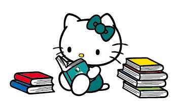 読書大好きなキティちゃん